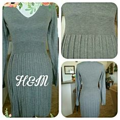 H&M GRAY KNIT DRESS Super soft.  Acrylic/nylon blend. H&M Dresses Midi