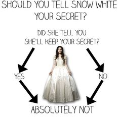 "13 Charts Only ""Once Upon A Time"" Fans Will Understand. Never trust Snow with secrets.."