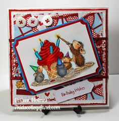 Store blog: Stampendous House Mouse - Happy Cake