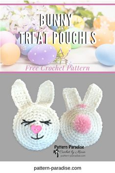 easter crochet patterns Free crochet pattern for bunny treat pouch on Easter Crochet Patterns, Crochet Bunny, Amigurumi Patterns, Crochet Toys, Free Crochet, Crochet Things, Knitting Patterns, Easter Projects, Easter Crafts