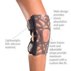 830cb02471 Donjoy OA Reaction Web Knee Brace | Osteoarthritis Knee Brace Hyperextended  Knee, Knee Osteoarthritis,