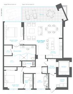 Chelsea Model 2 Bed, 2.5 Bath Floor Plan 2,046 Square Feet
