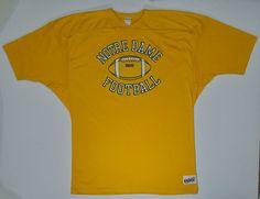 Vintage Notre Dame Jersey Shirt football team by JaybrrdsWhatnots