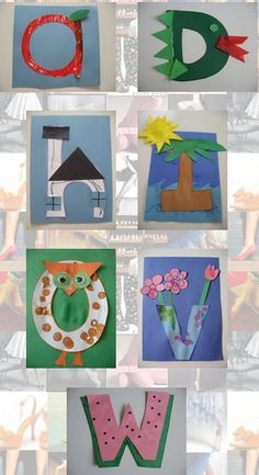 Letter art for science words (C for Cell in the shape of an animal cell) Abc Crafts, Alphabet Crafts, Alphabet Art, Letter A Crafts, Alphabet Activities, Letter Art, Letter Tracing, Alphabet Display, Spanish Alphabet