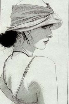 Pencil art, pencil drawings, art drawings, figure drawing, painting & d Pencil Art, Pencil Drawings, Art Drawings, Figure Drawing, Painting & Drawing, Drawing Drawing, Portrait Au Crayon, Art Du Croquis, Profile Drawing
