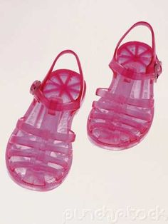 I had a pair of pink jelly shoes with glitter, they smelled good!