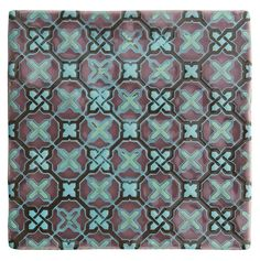 Ormeaux on Glen. Handmade patterned ceramic tiles from the Chateaux collection by The Winchester Tile Company. winchestertiles.com