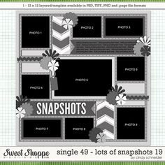 Cindy's Layered Templates - Single 49: Lots of Snapshots 19 by Cindy Schneider