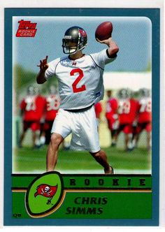 Football Trading Cards 2003 Topps RC Chris Simms # 325