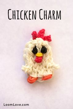 How to make a Rainbow Loom Chicken Charm
