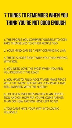 7 things to remember when you think you're not good enough Well-being ideas and inspiration for The Indie Practice Self Care Activities, Self Improvement Tips, Life Advice, Self Development, Personal Development, Positive Affirmations, Positive Thoughts, Self Help, Life Lessons