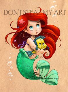 little+mermaid+and+plushie+by+MoonchildinTheSky.deviantart.com+on+@deviantART