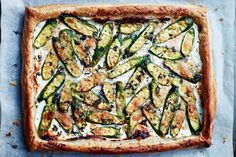Fermentastic! A Zucchini, Labneh And Thyme Tart