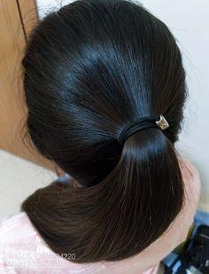 Long Ponytail Hairstyles, Long Hair Ponytail, Roll Hairstyle, Long Ponytails, Indian Hairstyles, Long Black Hair, Very Long Hair, Dark Hair, Thick Hair