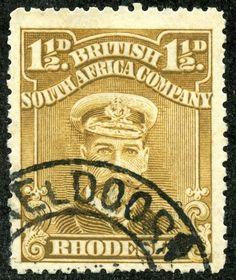 Rhodesia 1917 Scott 121 1½d bister brown