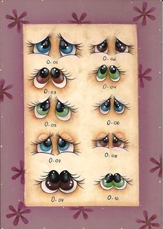 Some eyes to use when you make a clay pot craft or use for other paint crafts.