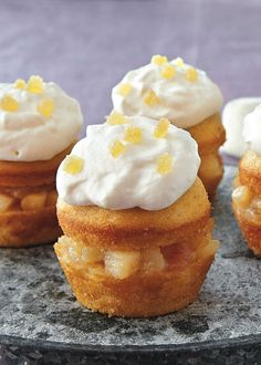 Buttery pears, pear preserves and ginger elevate these decked-out cupcakes into an elegant, memorable dessert and the honey-cream frosting takes them over-the-top. Starting with a box of Betty's French vanilla cake mix keeps prep-time to a minimum!