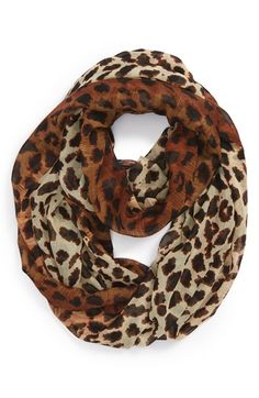 BP. Leopard Ombré Scarf (Juniors) available at #Nordstrom