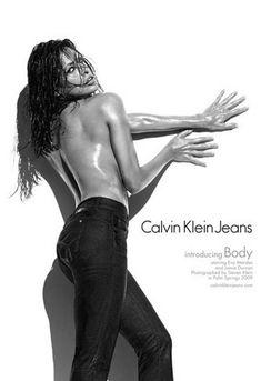 Eva Mendes Calvin Klein Jeans ad campaign 2009.  Shot by Steven Klein and also starring Jamie Dornan, the new Calvin Klein Jeans and Calvin Klein Underwear...