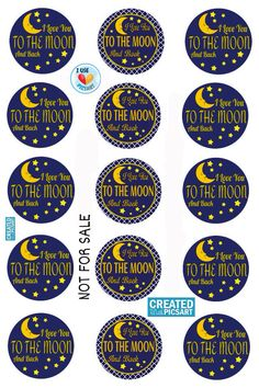 I Love You To the Moon & Back BCI on 4x6
