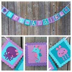 Under The Sea IT'S A GIRL banner Under The by lilcraftychickadee