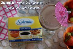 Zumba + Smart Swap Banana-Peanut Chocolate Smoothie #IC #ad #SweetSwaps #banana #chocolate #dance #exercise #smoothie #splenda #workout #zumba