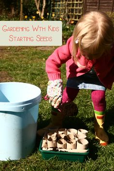 Create some compostable seed pots, choose the right seeds and start gardening with kids this Spring with some advice and how to for you and your preschooler