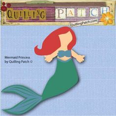 Like Disney Princess Ariel Mermaid Paper Doll Cutting File in SVG GSD KNK and MTC Formats