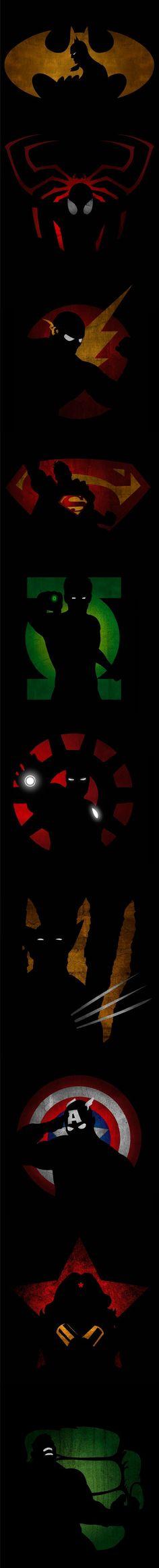 Nice Hero Shadow Logos !!