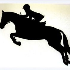 Flying Silhouette- this would be a good hunter/jumper car sticker!