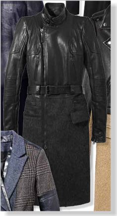 Diesel Black Gold Coat, $1,700. Clipped from Marie Claire using Netpage.