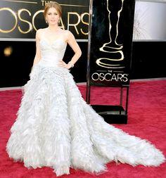 "Amy Adams - Oscar de la Renta ball gown and Moa jewelry - Oscars 2013 - Funky Fashions - Funk Gumbo Radio: http://www.live365.com/stations/sirhobson and ""Like"" us at: https://www.facebook.com/FUNKGUMBORADIO"