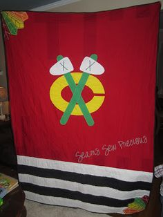 Chicago Blackhawks Themed Quilt