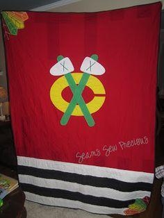 Chicago Blackhawks Themed Quilt