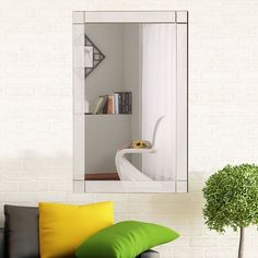 Costway Wall Mirror Rectangle Vanity Bathroom Home Furniture Decor MDF Frame Decor, Furniture, Vanity Wall Mirror, Home Furniture, Furniture Decor, Living Room Mirrors, Home Decor Outlet, Elegant Mirrors, Mirror Wall