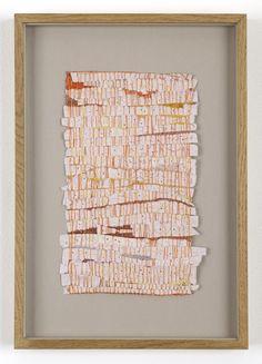 Sheila Hicks, 'La Lettre de Rupture,' 2004. Cotton, handmade paper, linen. 9.875 x 6 inches
