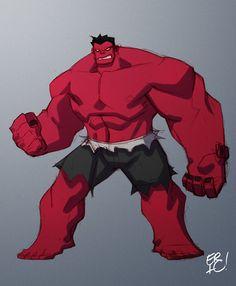 Red Hulk by Eric Guzman