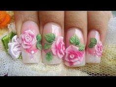 3D Art – Make Pink 3D Acrylic Roses Video – Click video and see how it is done!