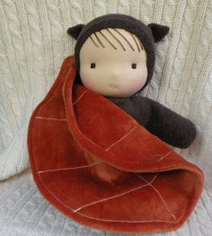 waldorf inspired doll-sherpa baby with leaf by auntboosbabies
