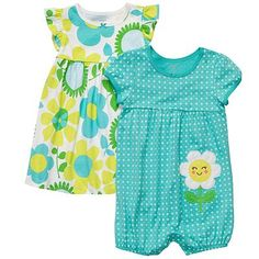 Carter's Floral Dress and Romper Set - Baby
