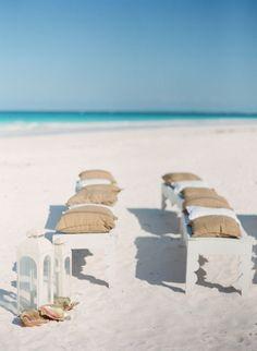 Beach reception: http://www.stylemepretty.com/2015/01/06/coral-bahamas-destination-wedding/ | Photography: KT Merry - http://www.ktmerry.com/