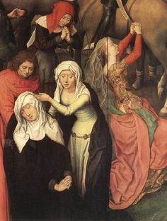 Waist seam in this one too Passion (Greverade) Altarpiece (detail) 1491 Hans Memling