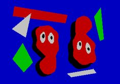 ZX Spectrum blobs now with border and extra pixel size