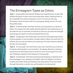 Last time we did the color post about the MBTI, but what about the Enneagram? Can you relate this time? Do you think that the color… Infp, Mbti Istj, Enfp And Infj, Infj Type, Estj, Introvert, Enneagram Type One, Enneagram Types, Personality Psychology