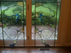 Custom Made Stained Art Glass Mirror Image Panels