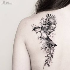 Bird tattoo @dianaseverinenko