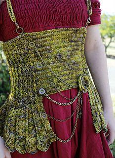 Hardware Heaven - Steampunk Corset #crochet pattern by Sarah jane #giftalong2014