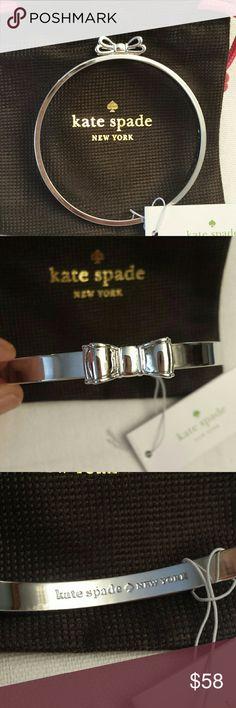 Kate Spade NWT Silver Tone Bow Bracelet Kate Spade NWT Silver Tone Bow Bangle Bracelet, Kate Spade Jewelry Bracelets