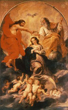 Image: Peter Paul Rubens - Coronation of Mary / Rubens / Peter Paul Rubens, Auguste Rodin, Keith Haring, Catholic Art, Religious Art, Rubens Paintings, Mona Lisa, Christian Artwork, Baroque Art