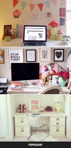 teen desk Sweet and Comfy Pink Teen and Kids Room Designs